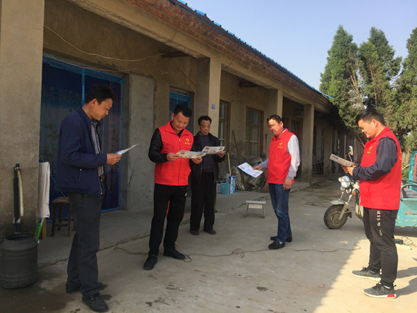 谢家集区杨公镇陈庙村:文明宣传入户 城市创建同步
