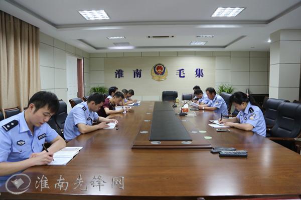 毛集公安分局机关党支部开展学习陈海发先进事迹活动